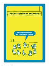 Arseholes Anonymous A6 Notebook