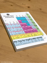 Periodic Table Of Swearing A5 Notebook