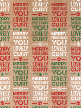 Lovely Cunt Christmas Gift Wrap