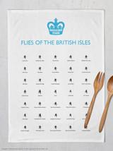 Flies Of The British Isles Tea Towel