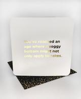 Soggy Bottom (Gold Foiled) Birthday Card