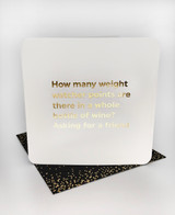Weight Watcher Points (Gold Foiled) Birthday Card