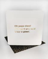 Yoga Class (Gold Foiled) Birthday Card