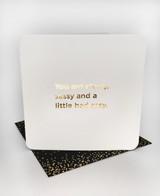 Classy Sassy (Gold Foiled) Birthday Card