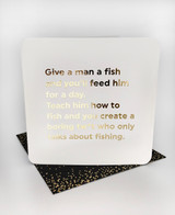 Give A Man A Fish (Gold Foiled) Birthday Card