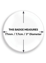 Fuck This 77mm Large Pin Badge