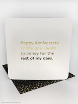 Anniversary Annoy (Gold Foiled) Birthday Card