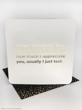 Thank You (Gold Foiled) Birthday Card