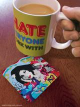 Amy Winehouse Street Art Graffiti Coaster