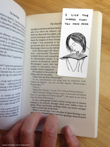 David Shrigley Lick The Words Magnetic Bookmark