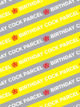 Birthday Cock Parcel Gift Wrap