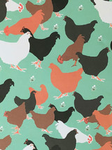 Hens - Emily Burningham Gift Wrap