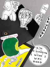 David Shrigley Sticker Set 1