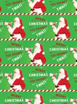 Santa Grumpy Twat Gift Wrap