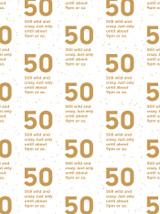 50th Birthday Gift Wrap