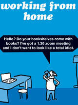 Working From Home Bookshelves