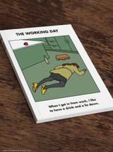 Work Lie Down A5 Notebook / Notepad