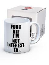 Fuck Off I'm Not Interested Modern Toss Boxed Mug