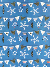 Snowflake & Bunting - Xmas Gift Wrap By Rosehip Cards