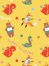 Party Animal Birthday Gift Wrap