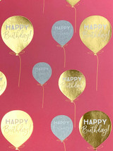 Pink & Gold Balloon Gift Wrap