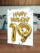 19th Birthday Blue