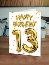 13th Birthday Gold