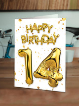 14th Birthday Gold
