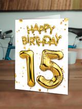 15th Birthday Gold