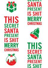 Secret Santa Shit Christmas Gift Wrap
