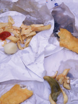 Fish And Chips Gift Wrap