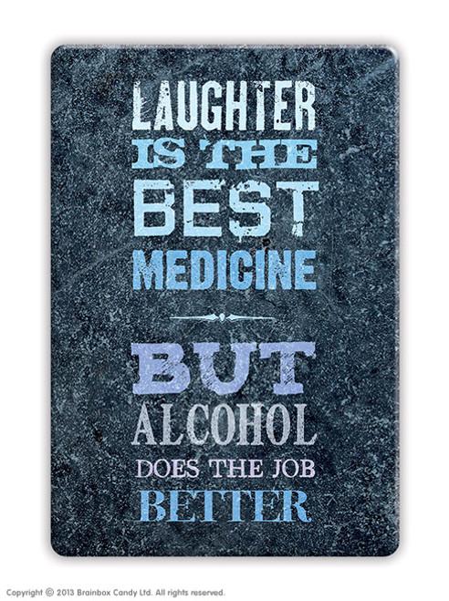 Laughter Best Medicine Fridge Magnet