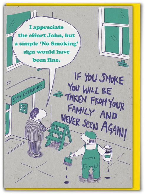No Smoking Birthday Card