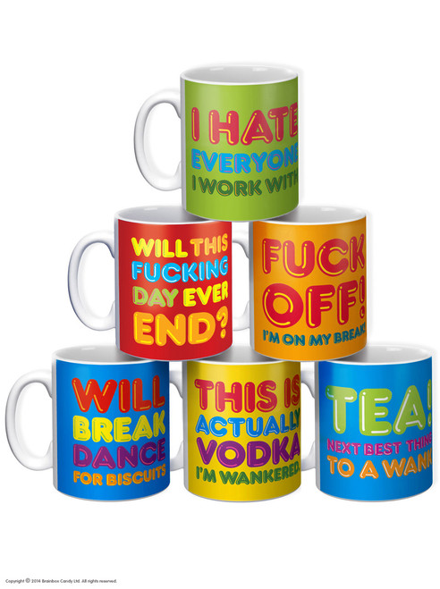 6 Pack Freshly Squeezed Rude Boxed Mugs