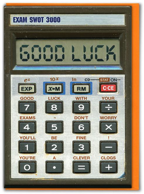 Calculator Exam Good Luck Card