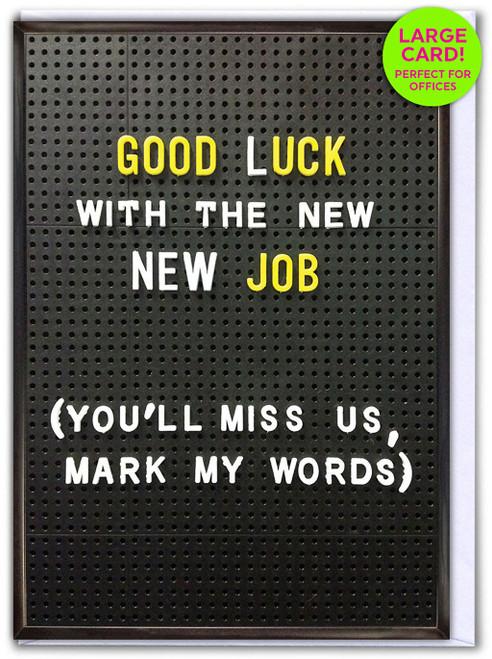 Good Luck New Job (Large Card)