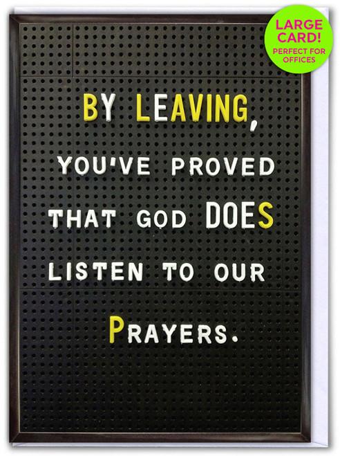 Leaving Prayer (Large Card)