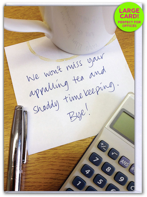 Leaving Appalling Tea (Large Card)