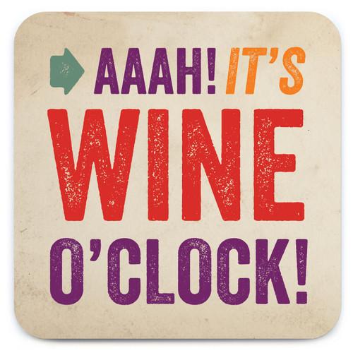 Wine O'Clock Coaster