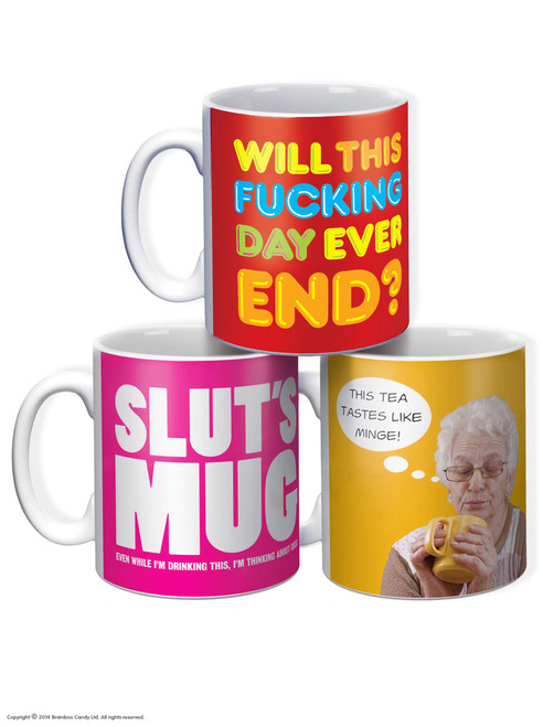3 Pack Of Boxed Boxed Mugs - Great For Work!