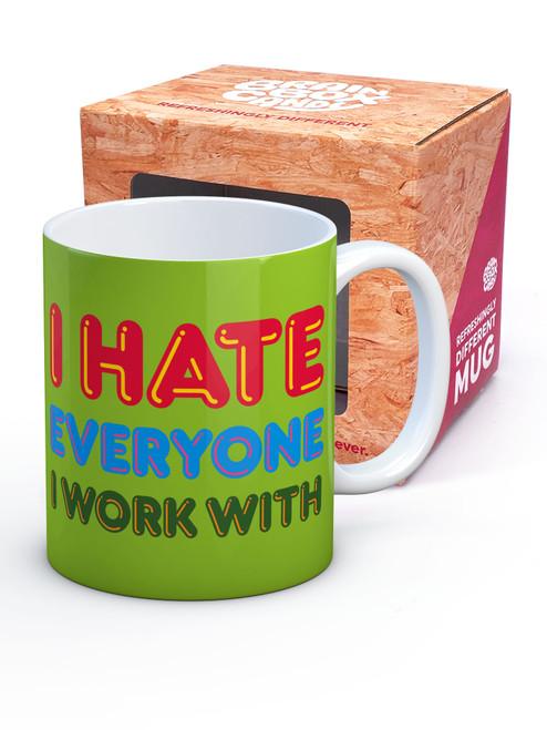 I Hate Everyone Boxed Mug
