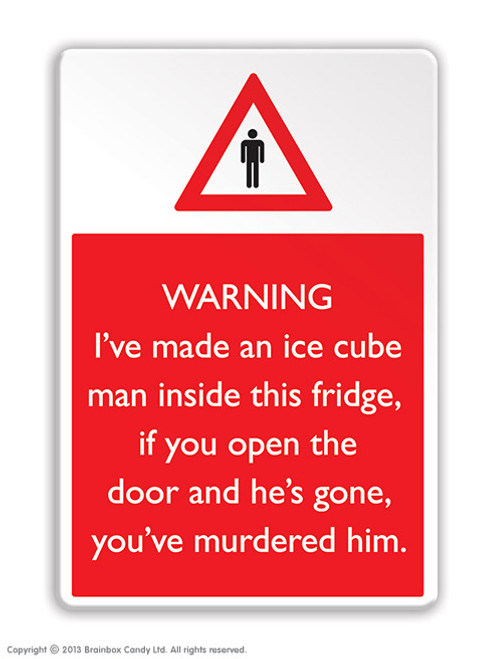 Ice Cube Man Fridge Magnet