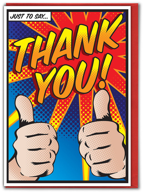 Pop Art Thank You Greetings Card - Multi Pack Options Available