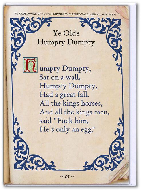 Humpty Dumpty Birthday Card