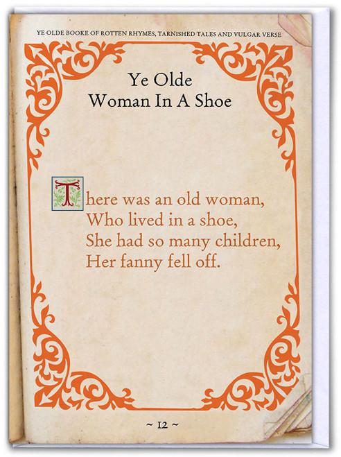 Old Woman Fanny Birthday Card