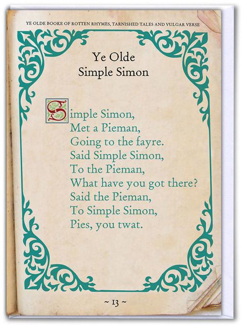 Simple Simon Birthday Card