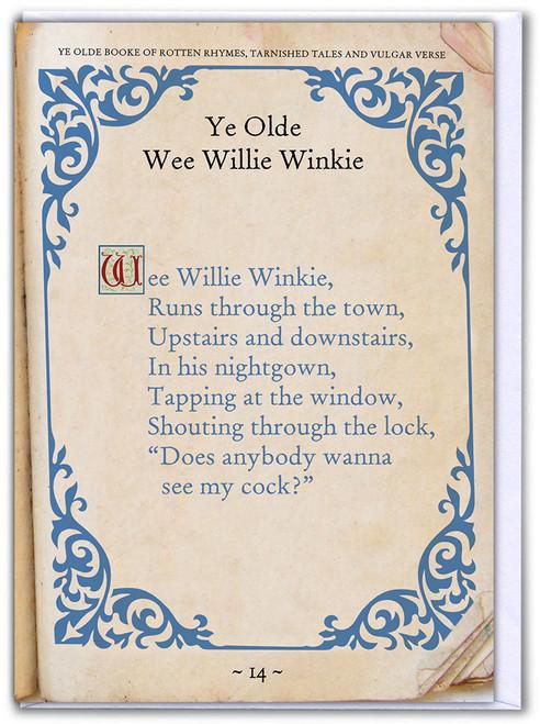 Wee Willie Winkie Birthday Card