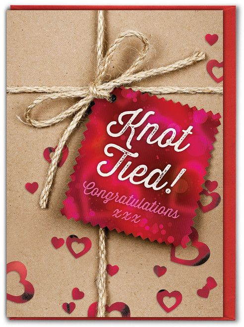 Knot Tied Wedding / Engagement Card