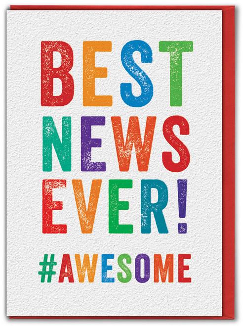 Best News Ever Congrats Congratulations Card