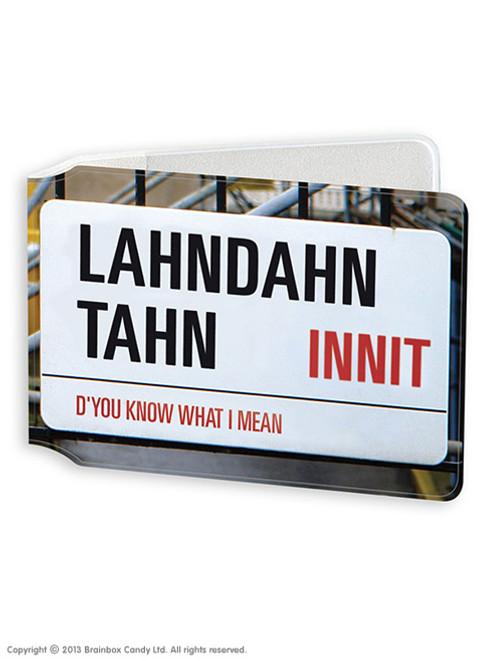 Lahndahn Tahn Travel Card Wallet